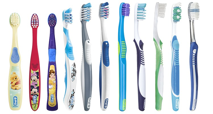 different toothbrushes