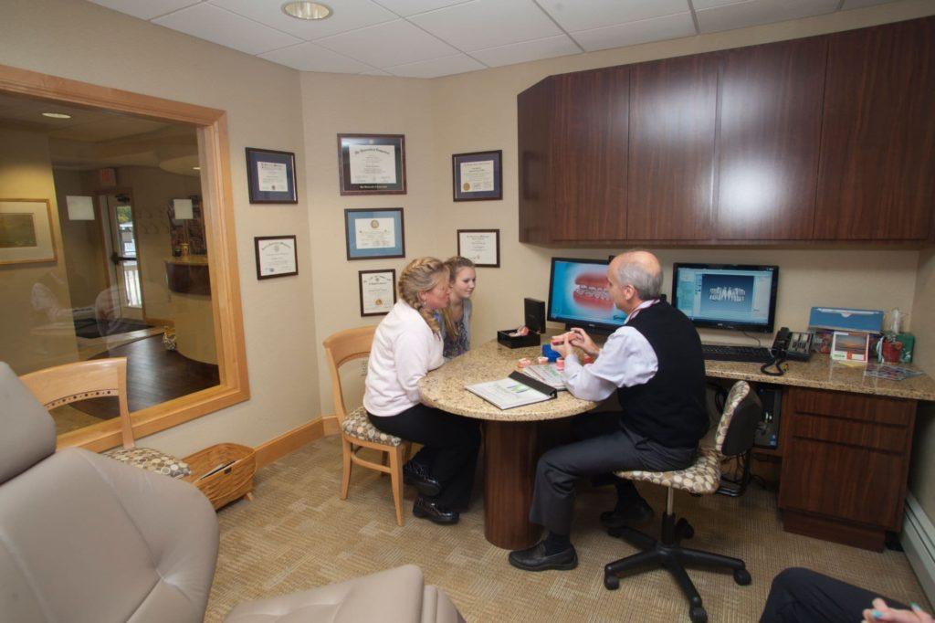 Dr. Vermette in a consultation